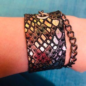 Rainbow mermaid wrap bracelet